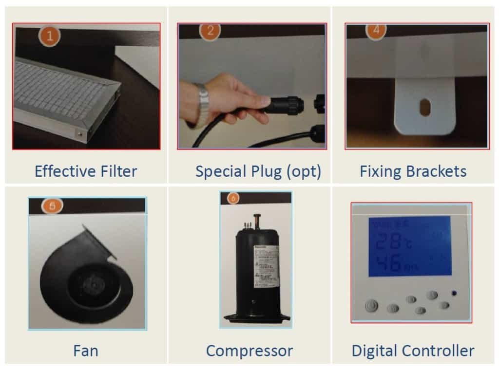 Dehumidifier for swimming pool design.