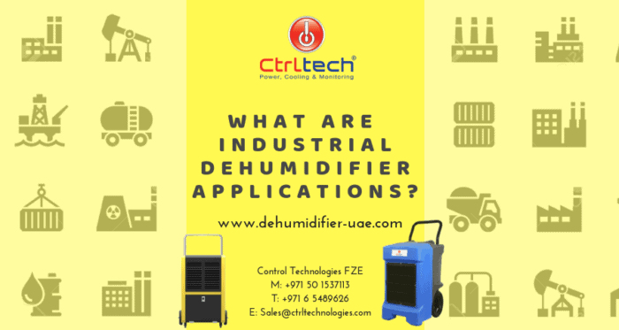 Industrial dehumidification system.