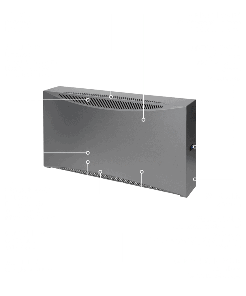 DRY 500 wall mount dehumidifier for swimming pools.