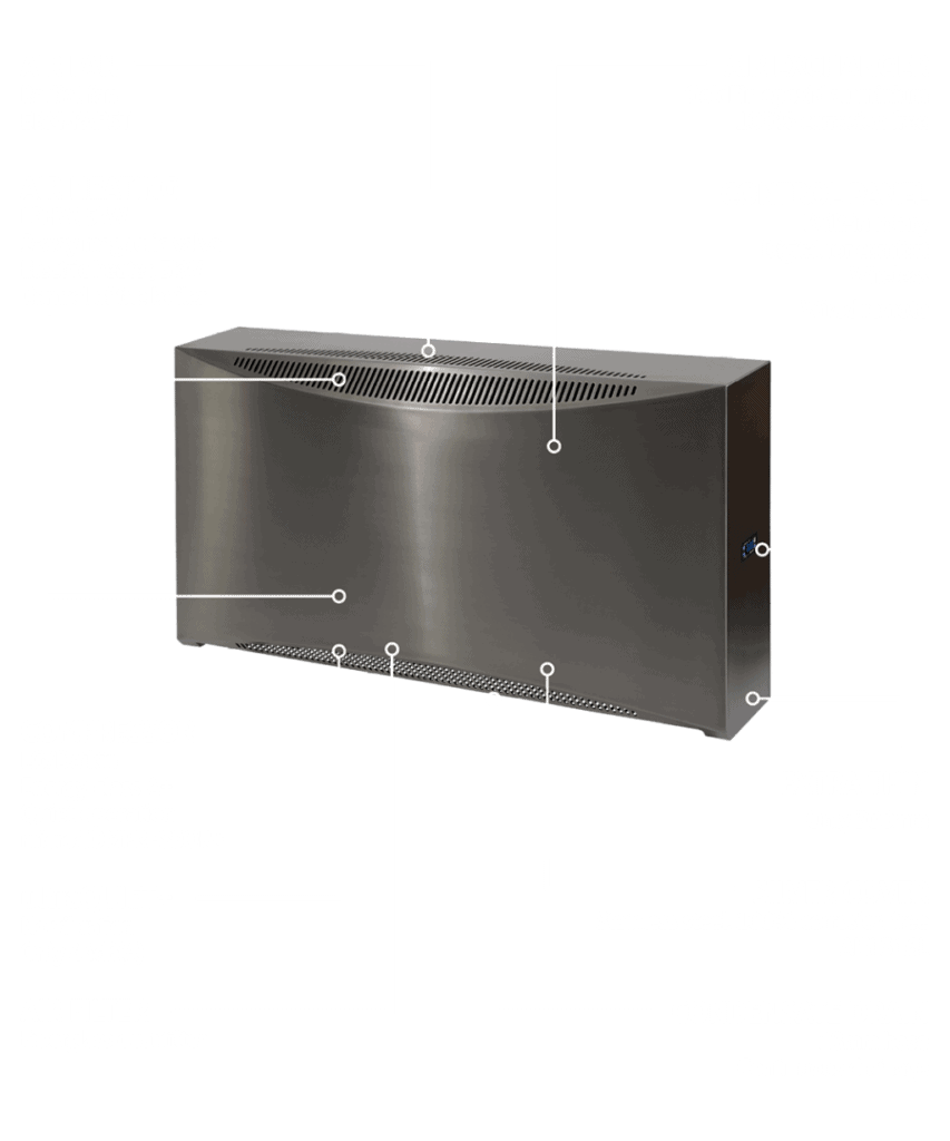 DRY500 Silver swimming pool dehumidification system.