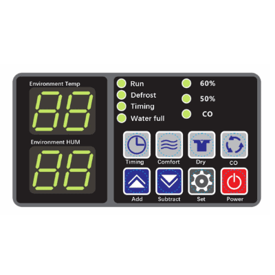 FSD pool dehumidifier control panel.
