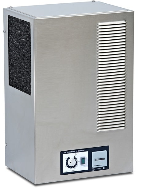 AD110 wall mounted dehumidifier by Aerial Germany.