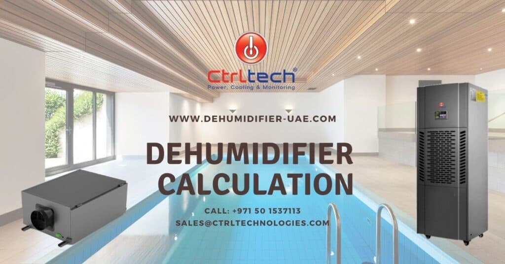 Dehumidifier calculation for the indoor swimming pool.